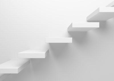 Die Treppe der Pflege-Karriere
